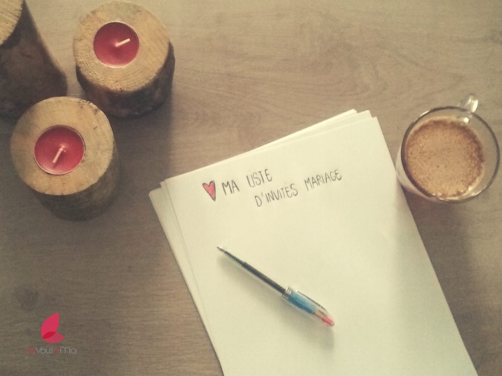 élaborer votre liste d'invités pour votre mariage