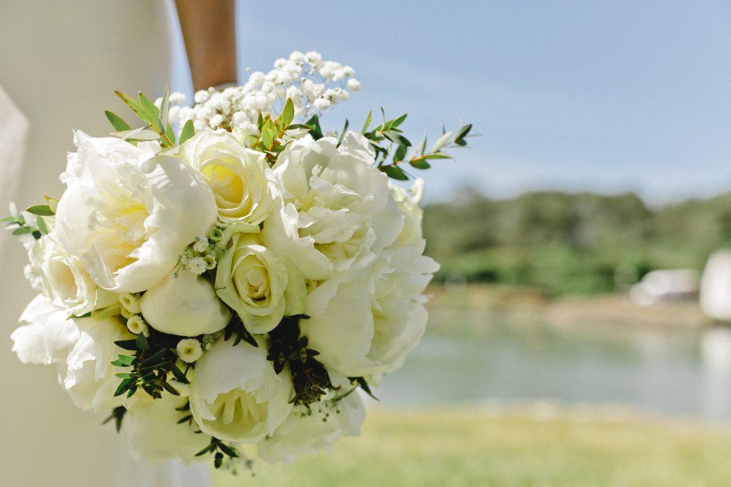 bouquet mariée blanc pivoine